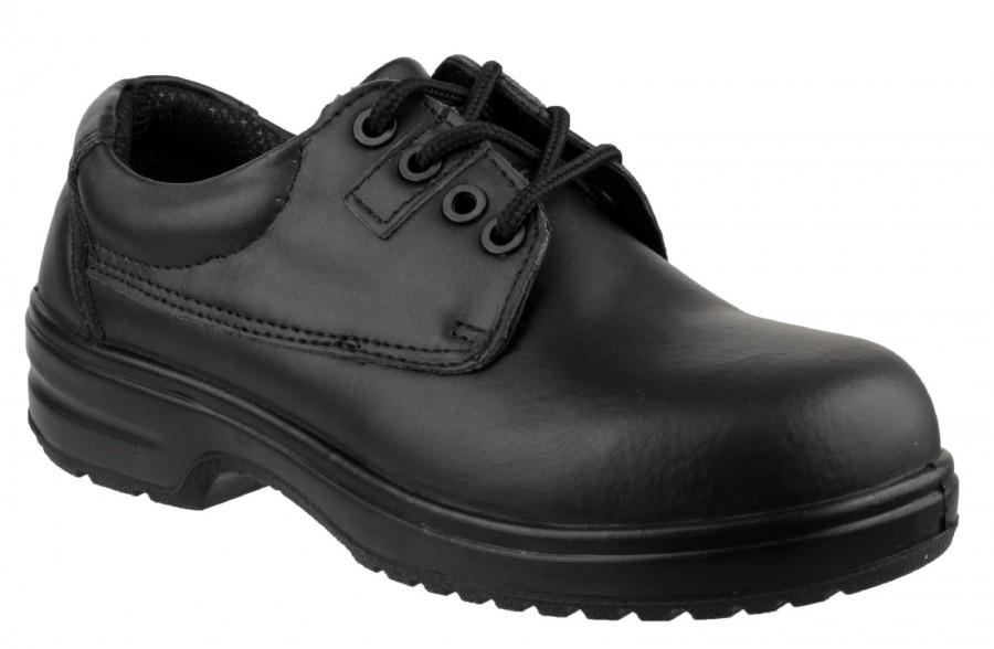 Amblers Black S1P Ladies Non Metal Safety Shoes FS121C
