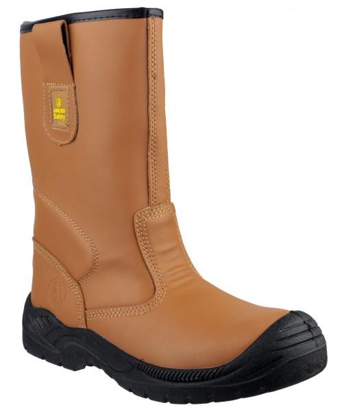 Amblers Tan S3 Steel Toe Boot FS142
