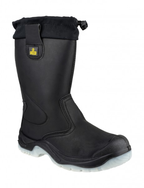 Amblers Black S3 Pull On Rigger Safety Boots FS209