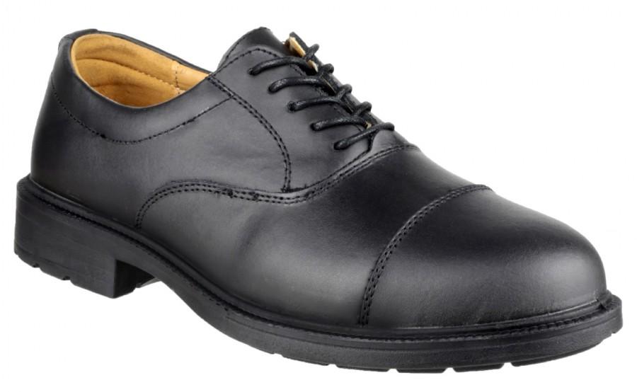 Amblers Black S1P Oxford Safety Shoes FS43