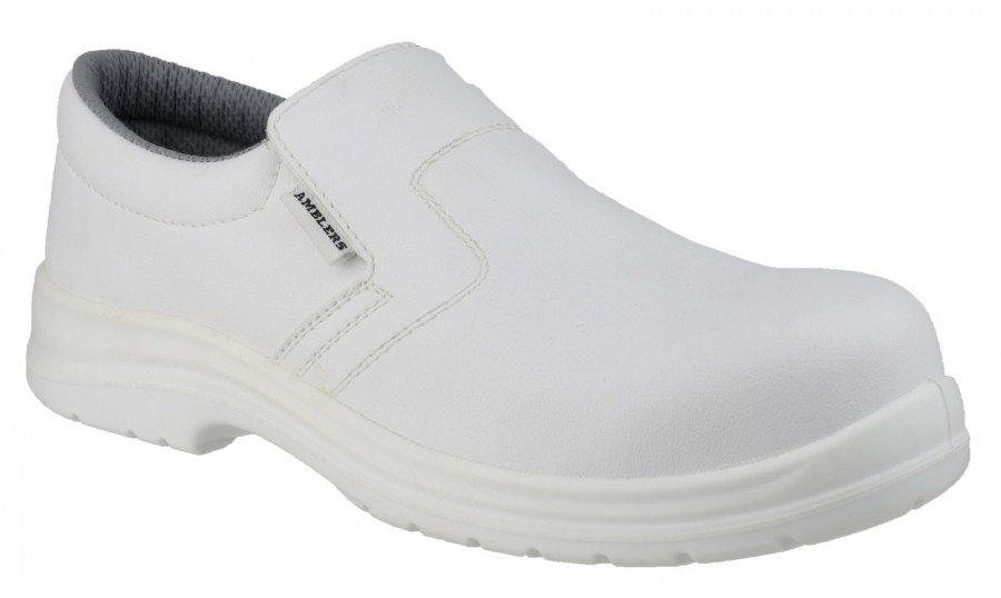 Amblers White S2 Slip On Safety Shoes FS510