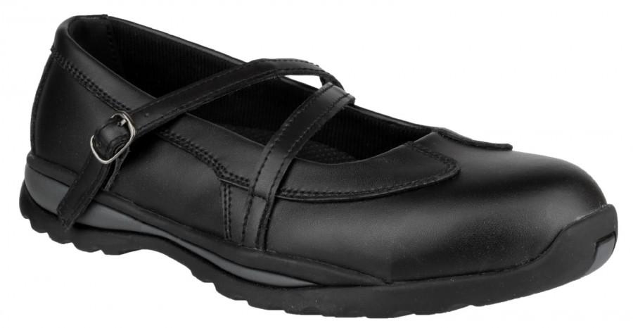 Amblers Black S1P Ladies Safety Shoes FS55