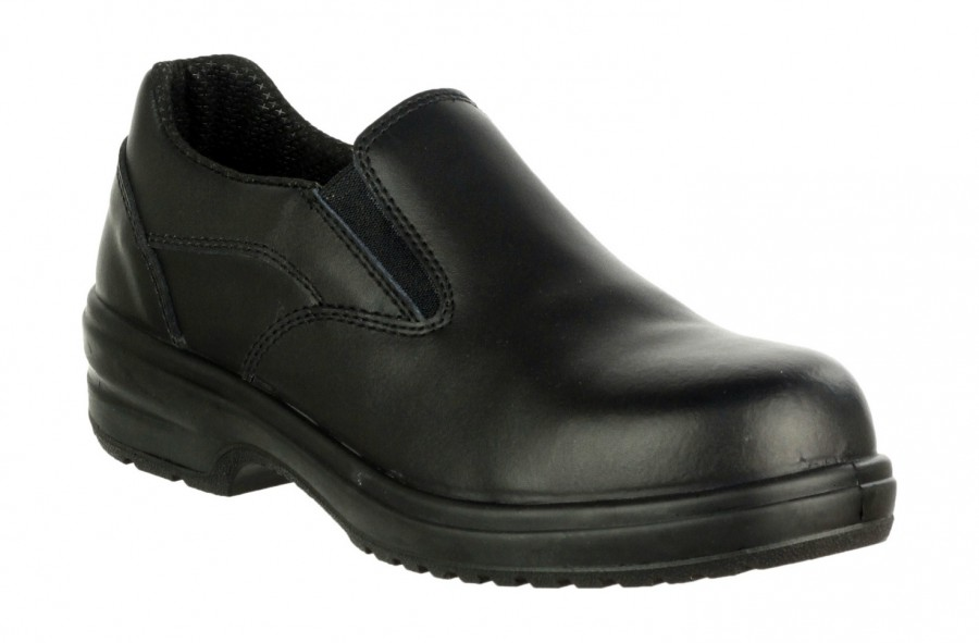 Amblers Black S1P Safety Shoes FS94C