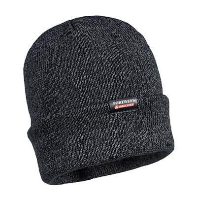 Portwest Reflective Knit Cap, Insulatex Lined - B026