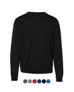 ID MENS KNITTED V-NECK PULLOVER 0640