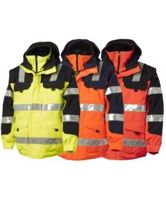 VIKING SUPERIOR HIVIS WATERPROOF BOMBER 3 IN 1 JACKET 111029-120