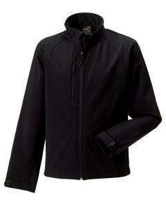 Russel R140M Softshell Jacket-BLACK-EXTRA SMALL