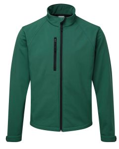 Russel R140M Softshell Jacket-BOTTLE GREEN-EXTRA SMALL