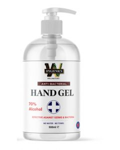 HYGIENICS HAND GEL SANITISER 500ML BOTTLE