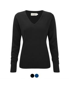 Russell Collection Ladies' V-Neck Knitted Pullover 710F