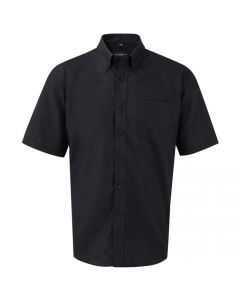 933M-933M Russell Collection Men's Short Sleeve Easy Care Oxford Shirt