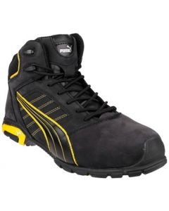 PUMA BLACK/YELLOW AMSTERDAM MID S3 SAFETY BOOT