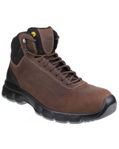 PUMA BROWN CONDOR MID S3 STEEL TOE BOOTS
