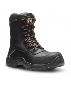 V12 E1300.01 DEFIANT Safety Boot IGS  BLACK S3 ZIP SIDE HIGH LEG