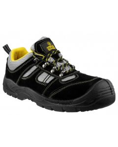 Amblers Black S1P Safety Trainers FS111
