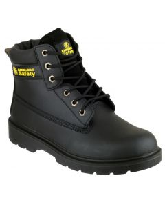 Amblers Black S1P Steel Toe Boots FS112