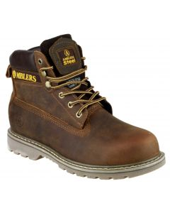 Amblers Brown SBP Welted Steel Toe Boots FS164