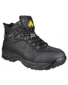 Amblers Black S3 Steel Toe Boots FS190