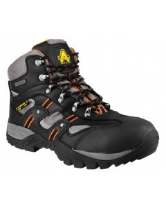 Amblers Black S3 Waterproof Steel Toe Boots FS193