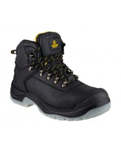 Amblers Black S1P Steel Toe Boots FS199