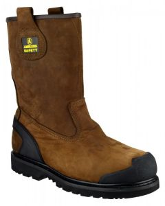 Amblers Brown S3 Rigger Safety Boots FS223C
