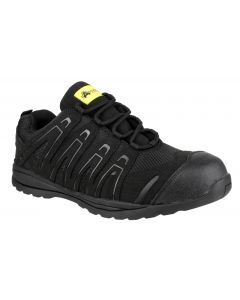 Amblers Black S1P Safety Trainers FS40C