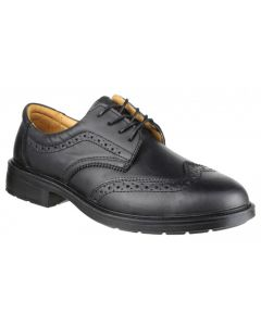 Amblers Black S1P Brogue Safety Shoes FS44
