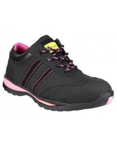 Amblers Black/Pink S1-P Ladies Safety Trainer FS47