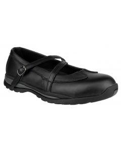 Amblers Black S1P Ladies Safety Shoes FS55