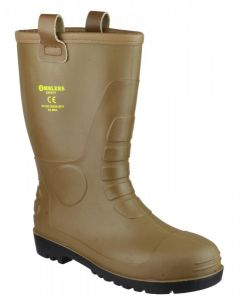 Amblers Tan S5 PVC Rigger Safety Boots FS95