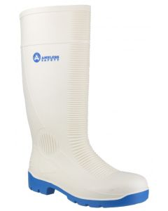 Amblers White S4 Steel Toe Cap Wellies FS98