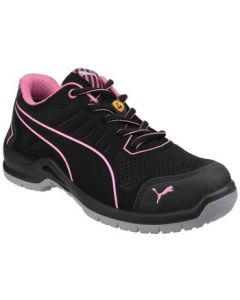 PUMA BLACK FUSE TECHNIC S1P WOMENS SAFETY TRAINERS