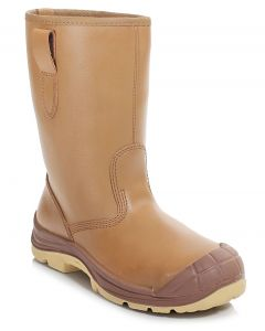 PB42LC-TAN Lined Rigger Boot c/w Cap