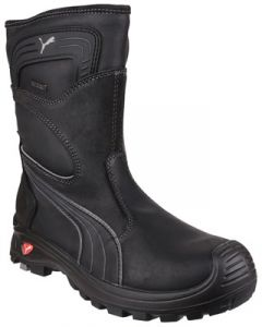 PUMA BLACK WATERPROOF S3 NON METALLIC RIGGER SAFETY BOOTS
