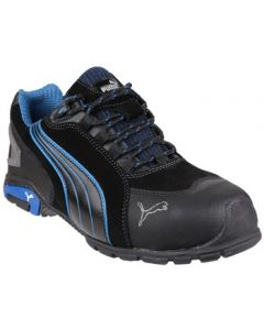 PUMA BLACK/BLUE RIO LOW S3 SAFETY TRAINERS