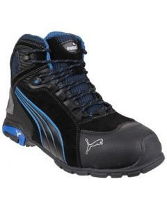 PUMA BLACK/BLUE RIO MID S3 STEEL TOE BOOTS