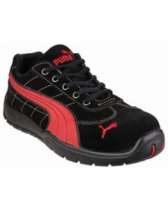 PUMA BLACK/RED SILVERSTONE LOW S1P SAFETY TRAINER