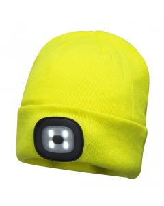 RECHARGEABLE LED BEANIE WITH REAR LIGHT - B028
