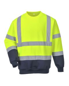 Portwest Two Tone Hi-Vis Sweatshirt - B306