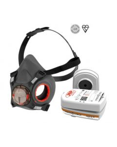 JSP Force™8 PressToCheck™ Large Half-Mask with PressToCheck™ A2 P3 Filters