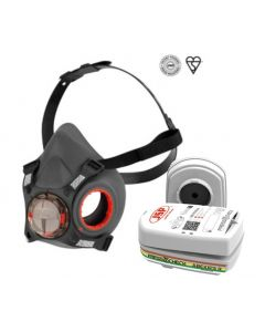Force™8 PressToCheck™ Medium Half-Mask with PressToCheck™ ABEK1 P3 Filters - Set of 2