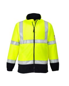 Portwest Flame Resistant Anti-Static Hi-Vis Fleece - FR31