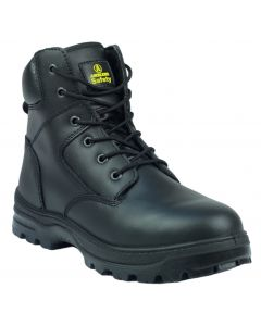 Amblers Black S1P Steel Toe Boots FS84