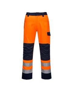 Portwest Modaflame RIS Orange/Navy  Trouser - MV36