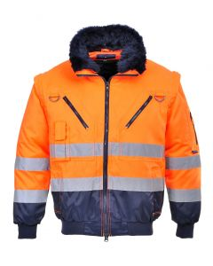 Hi-Vis 3-in-1 Pilot Jacket - PJ50 ORANGE/NAVY 4XL