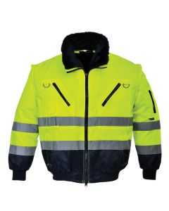 Hi-Vis 3-in-1 Pilot Jacket - PJ50 YELLOW/NAVY 4XL