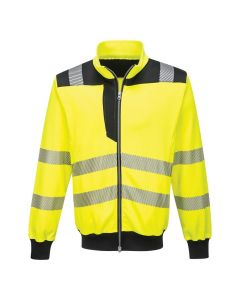 PW3 HI-VIS SWEATSHIRT - PW370-YELLOW/BLACK-SMALL