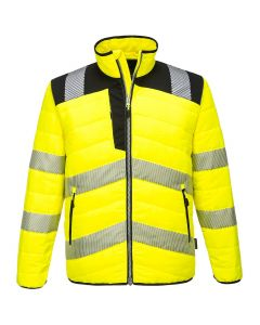 PW3 HI-VIS BAFFLE JACKET - PW371-YELLOW/BLACK-SMALL