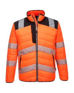 PW3 HI-VIS BAFFLE JACKET - PW371-ORANGE/BLACK-SMALL
