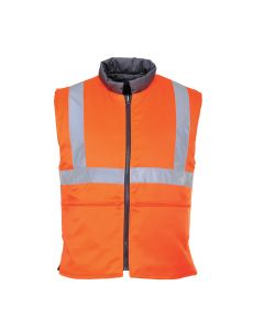 Portwest Hi-Vis Reversible Bodywarmer RIS - RT44